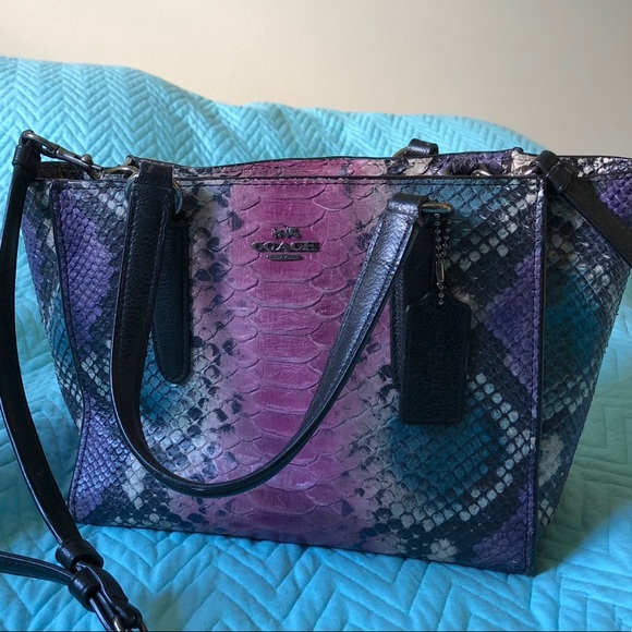 Coach Handbags - Multicolored Python Coach bag